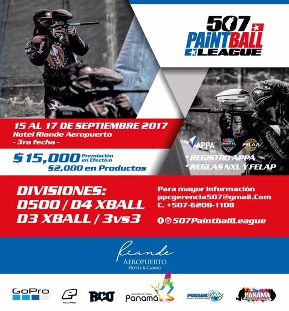 Panama Paintball Club - Divisiones